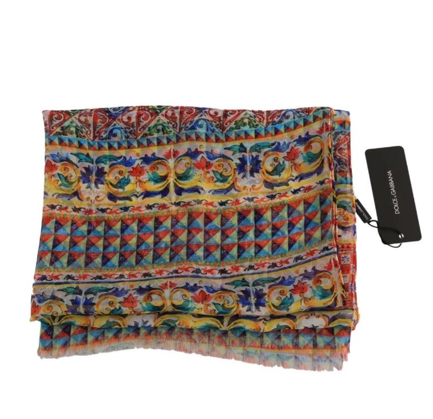 Dolce & Gabbana Caretto Print Wrap Scarf