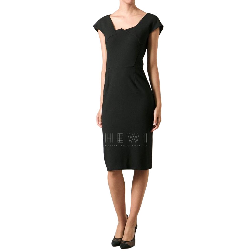 Roland Mouret Hirta Stretch-Crepe Dress