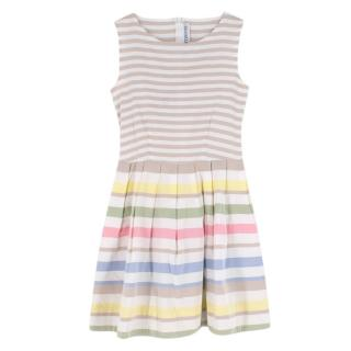 Simonetta Striped Sleeveless Dress