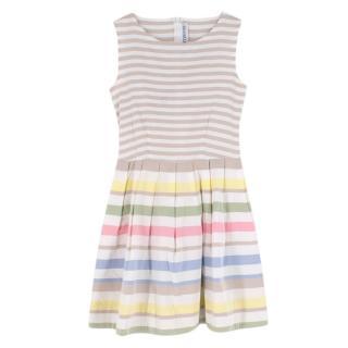 Simonetta Striped Sleeveless Dress