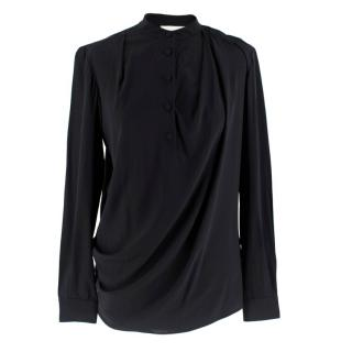 3.1 Phillip Lim Black High Neck Silk Blouse