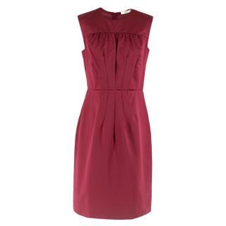 Prada Crimson Silk Evening Dress