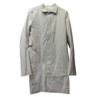 Rick Owens Beige Trench Coat