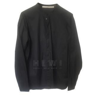Isabel Benenato Collarless black shirt