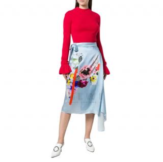 Preen by Thornton Bregazzi Silk Satin Nadine Skirt