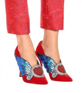 Dolce & Gabbana Lori Winged Heart Pumps