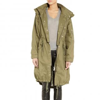 McQ Khaki Convertible Trench Coat