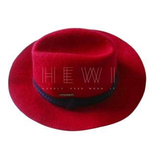 Mathias Hutter Red Wool Felt Men's Hat