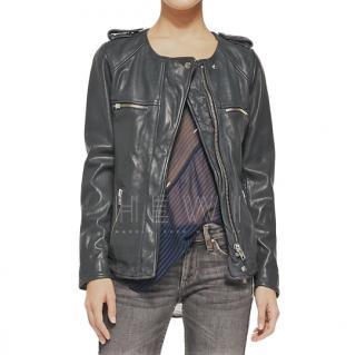 Isabel Marant Etoile Bacuri grey leather jacket