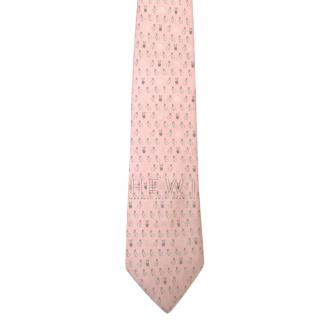 Loewe special edition pink bunny tie