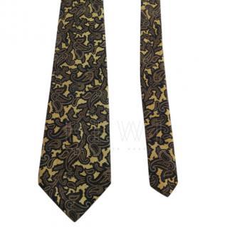 Stefano Ricci Lace Paisley Print Silk Handmade Tie