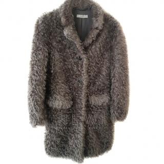 Prada Grey Mohair Blend Coat