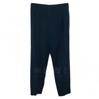 Isabel Marant Blue Wool Blend Crop Pants