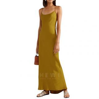 Khaite Gold Satin Crepe Margot Dress
