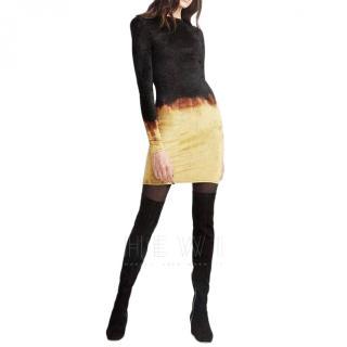 Balmain Ombre Velvet Mini Dress