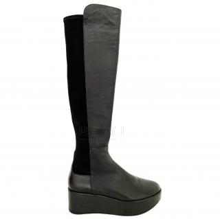 Stuart Weitzman over the knee platform boots