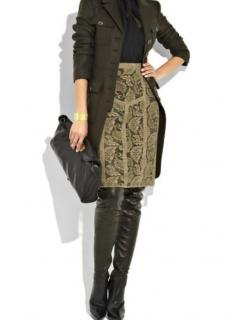 Burberry taupe lace pencil skirt