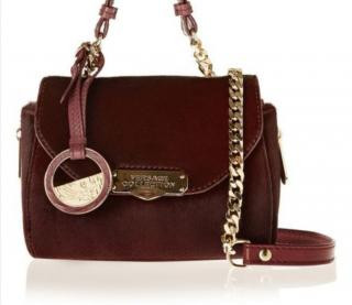 Versace Collection Large Top Handle Calf Hair / Leather Satchel Bag