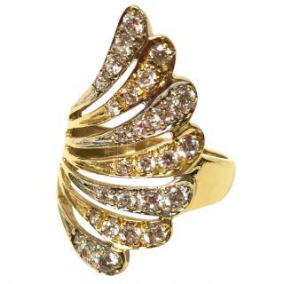 Bespoke diamond set fan ring