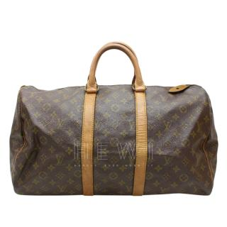 Louis Vuitton 45 Keepall  Monogram Boston Bag