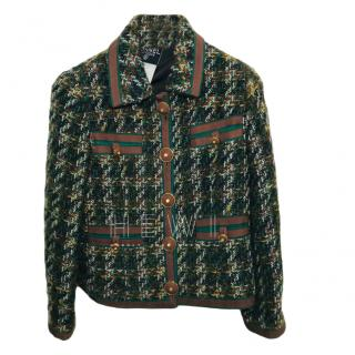 Chanel Boutique green will tweed jacket