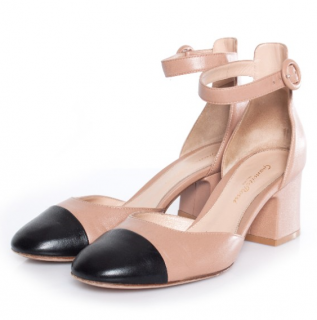Gianvito Rossi Two-Tone Mary-Jane Sandals