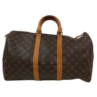 Louis Vuitton Keepall 45 Monogram Boston Bag