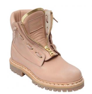 Balmain Taiga Leather Military Boots