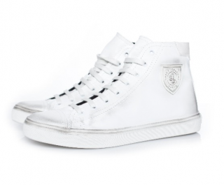 Saint Laurent Men's Bedford leather high-top sneakers