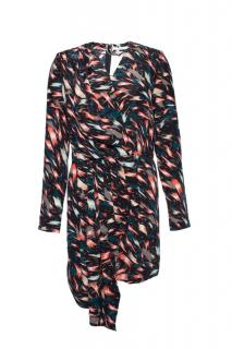 Givenchy Printed Asymmetric Draped Silk Dress