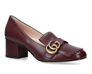 Gucci Marmont Loafer 55 in Wine