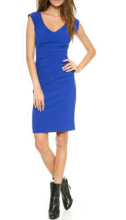 Diane Von Furstenberg Blue Stretch Knit Dress