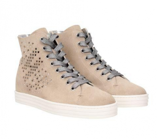 Hogan Rebel Suede High-Top Sneakers