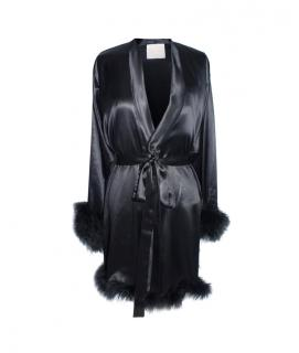 Maguy de Chadirac Marabou Feather Trim Dressing Gown