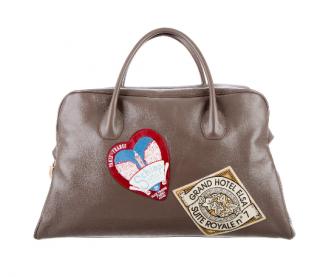 Schiaparelli Taupe Souvenir Weekend Bag