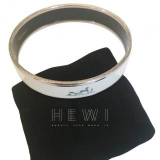 Hermes Ivory Caleche Enamel Bracelet