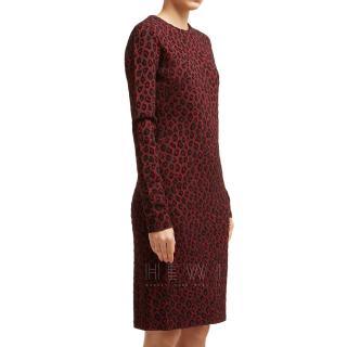 Givenchy Leopard print-jacquard midi dress