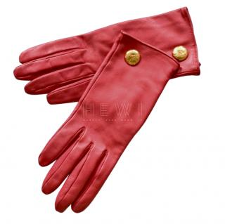Christian Lacroix vintage red leather gloves