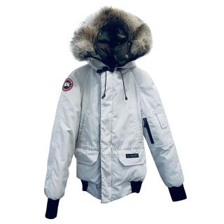 Canada Goose reversible Chilliwack Bomber in White/Camo