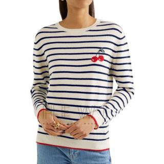 Chinti & Parker 100% cashmere cherry sweater