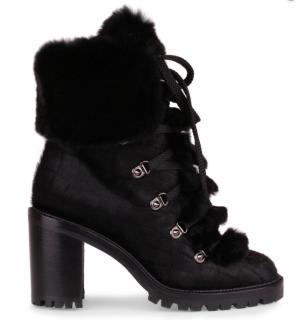 Christian Louboutin Fanny 70 Black Pony Boot