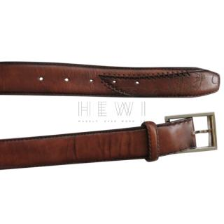Berluti Handmade Antique Brown Leather Belt