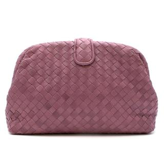 Bottega Veneta The Lauren 1980 Leather Clutch in Deco Rose