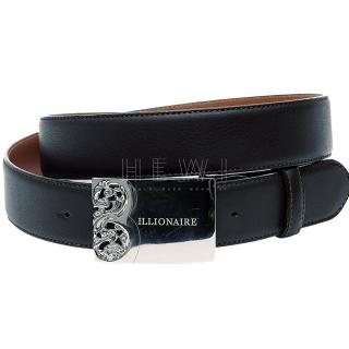 Billionaire Navu Blue Leather Belt