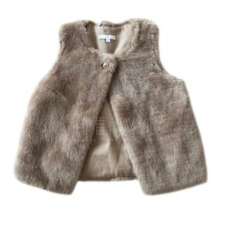 Chloe girls faux fur gilet