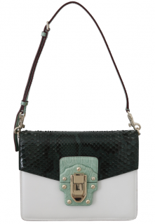 Dolce & Gabbana Lucia Crocodile & Snakeskin Leather Flap Bag