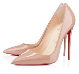 Christian Louboutin Nude Patent 120mm So Kate Pumps
