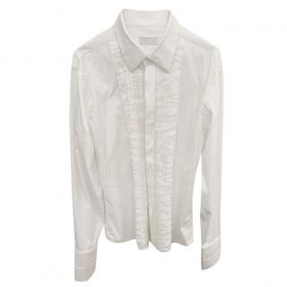 Prada White Ruffled Blouse