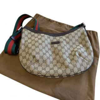 Gucci Supreme Monogram Web Strap Crossbody Bag