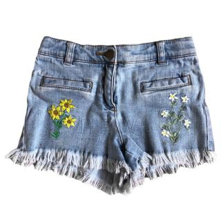 Stella McCartney Girl's Denim Shorts